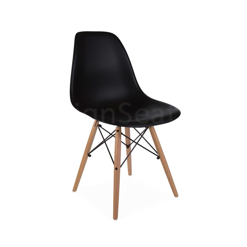 Eetkamerstoelen Designstoel Dsw Plastic Wit.Dsw Eames Design Stoel Zwart Mrs Beautiful