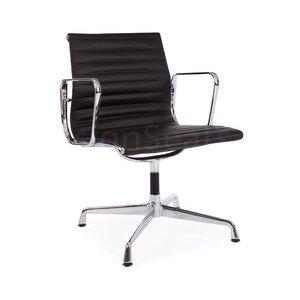 EA108 Eames Conferentiestoel Leer zwart