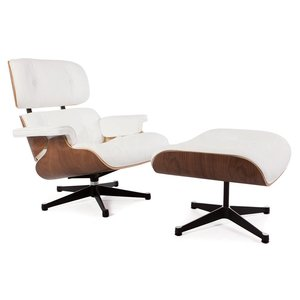 Eames Lounge Chair Rosewood White