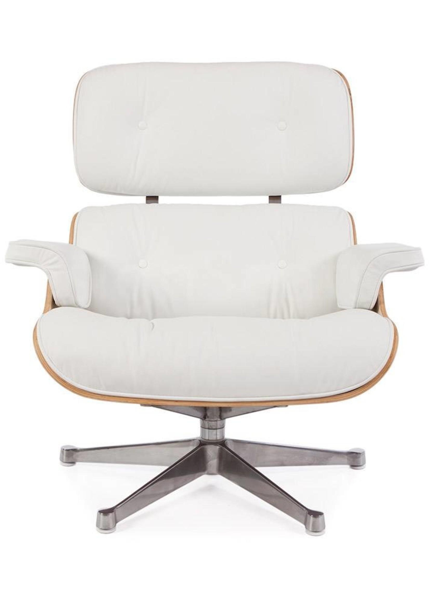 Eames Lounge Chair Walnut White