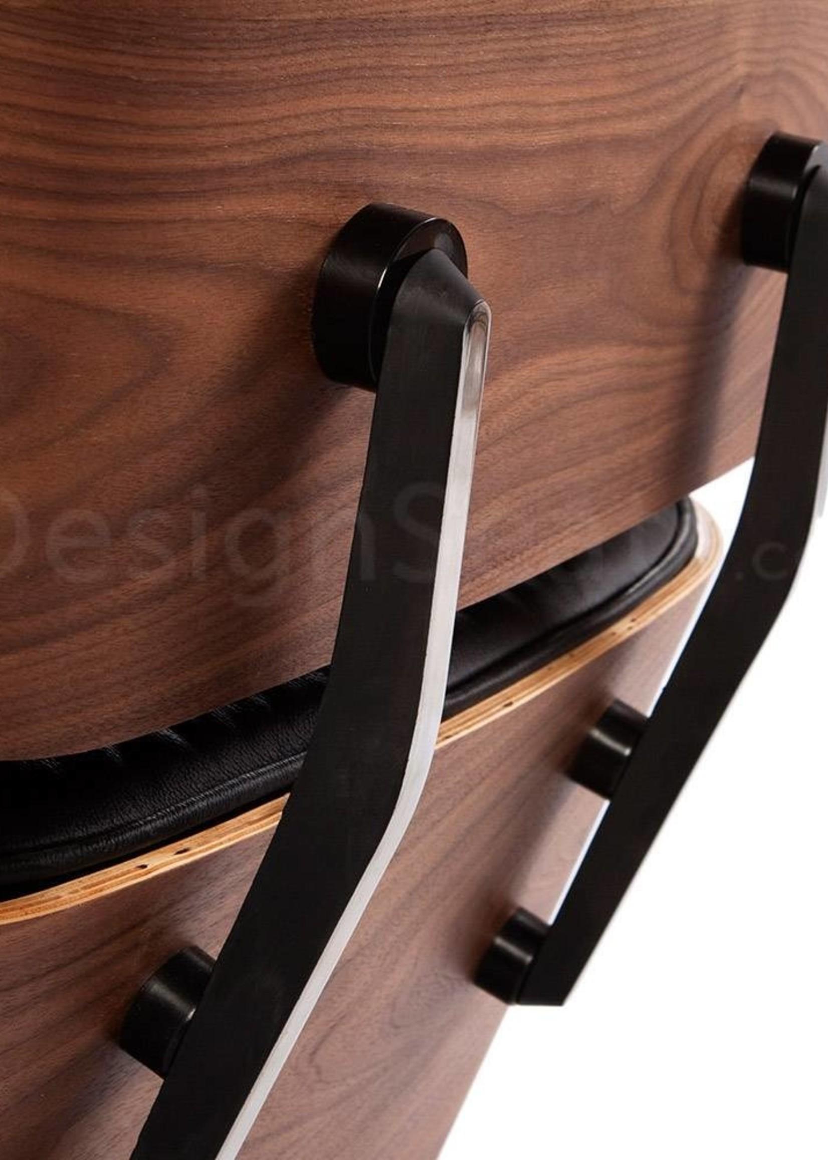 Eames Lounge Chair Walnut Zwart
