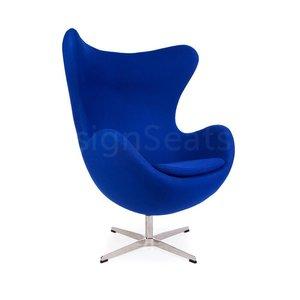Egg chair Blauw Cashmere