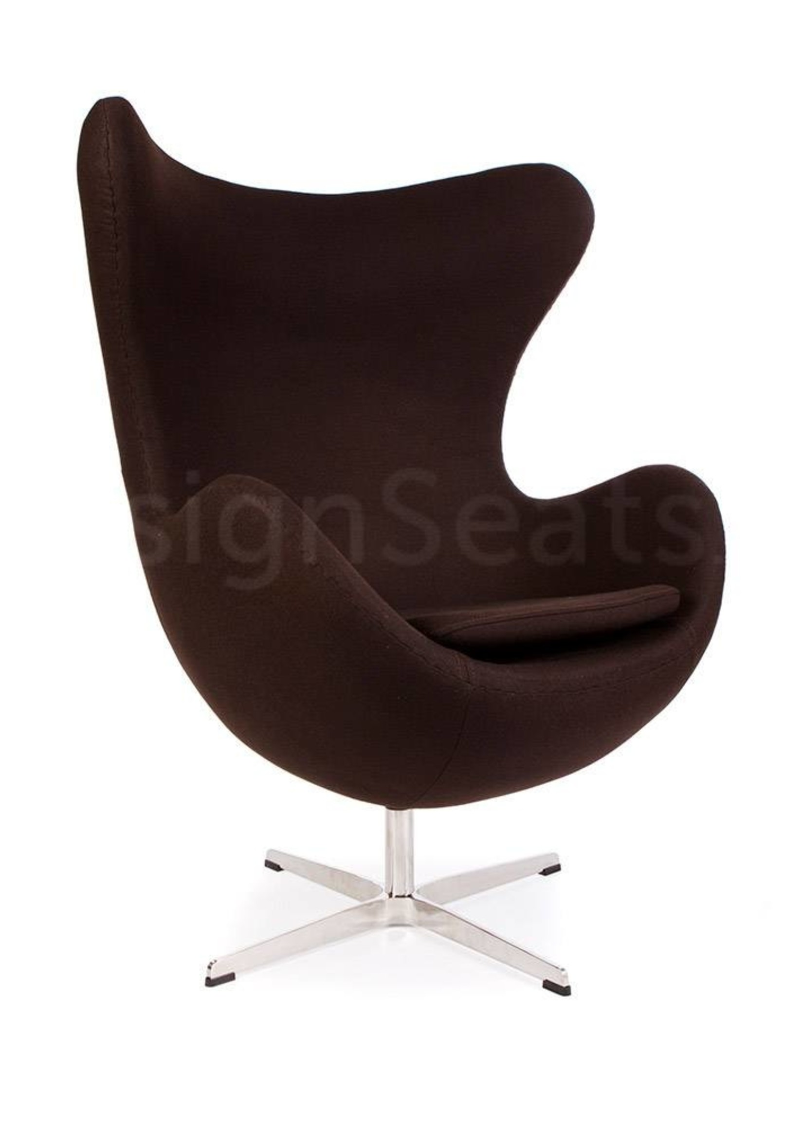 Egg chair Bruin Cashmere