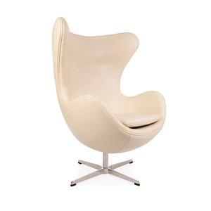 Egg chair Beige Leer