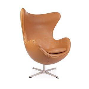 Egg chair Cognac Leather
