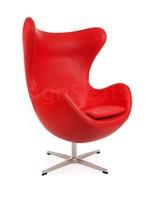Egg chair Leer Rood