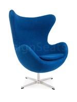 Egg chair Wol Blauw