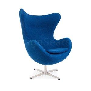 Egg chair Blue Wool