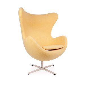 Egg chair Yellow Wool