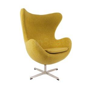 Egg chair Mustard Wool
