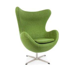Egg chair Olijfgroen Wool