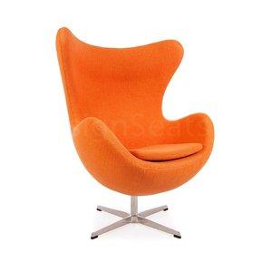 Egg chair Orange Wool