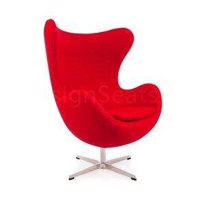 Egg chair Rood Wool