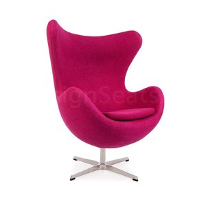 Egg chair Pink Wool