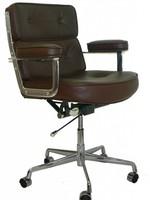 ES104 Eames Lobby Chair Leer Bruin