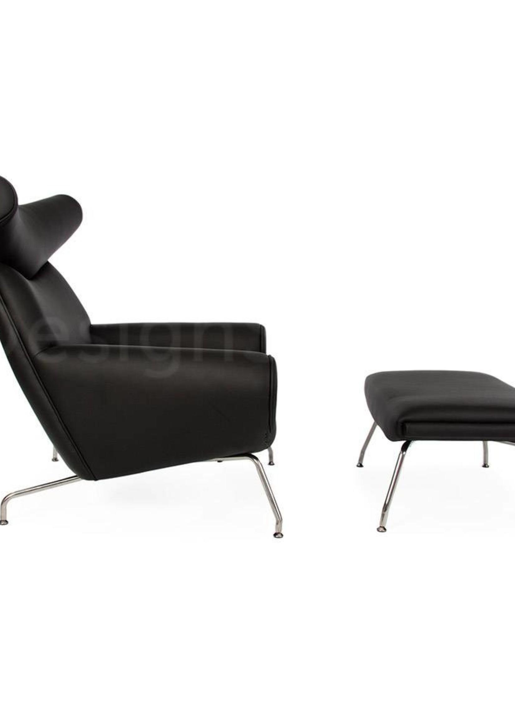 Ox chair Zwart-Leer