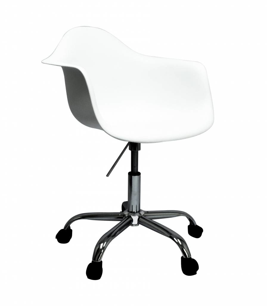 Charles Eames Bureaustoel Wit.Pacc Eames Design Stoel Wit Mrs Beautiful