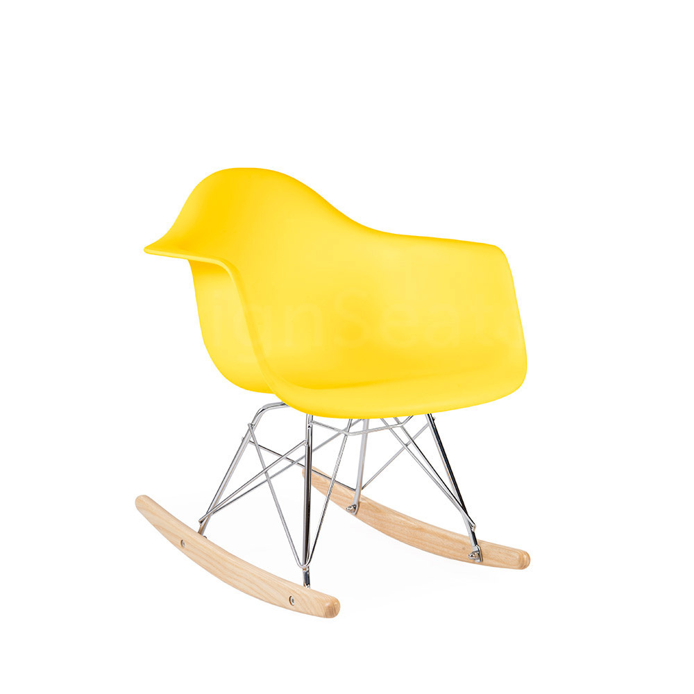 Incredible Rar Eames Kids Rocking Chair Corn Yellow Inzonedesignstudio Interior Chair Design Inzonedesignstudiocom