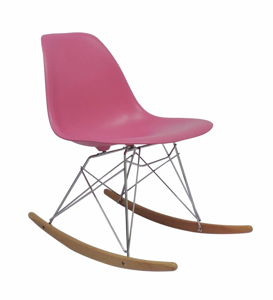 Superb Rsr Eames Design Rocking Chair Pink Mrs Beautiful Squirreltailoven Fun Painted Chair Ideas Images Squirreltailovenorg