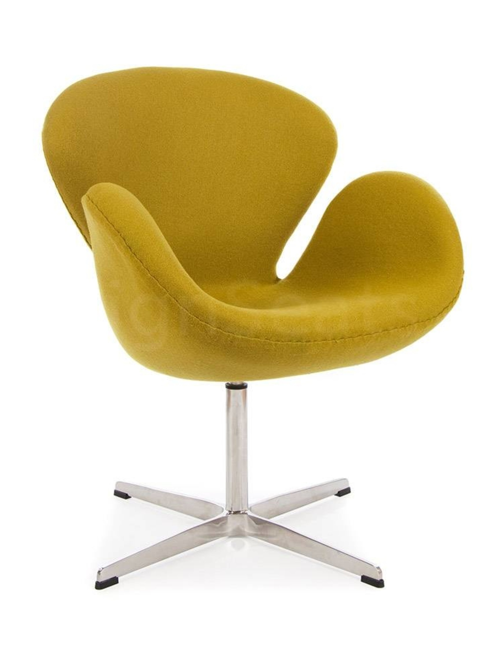 Swan chair Olijf Cashmere