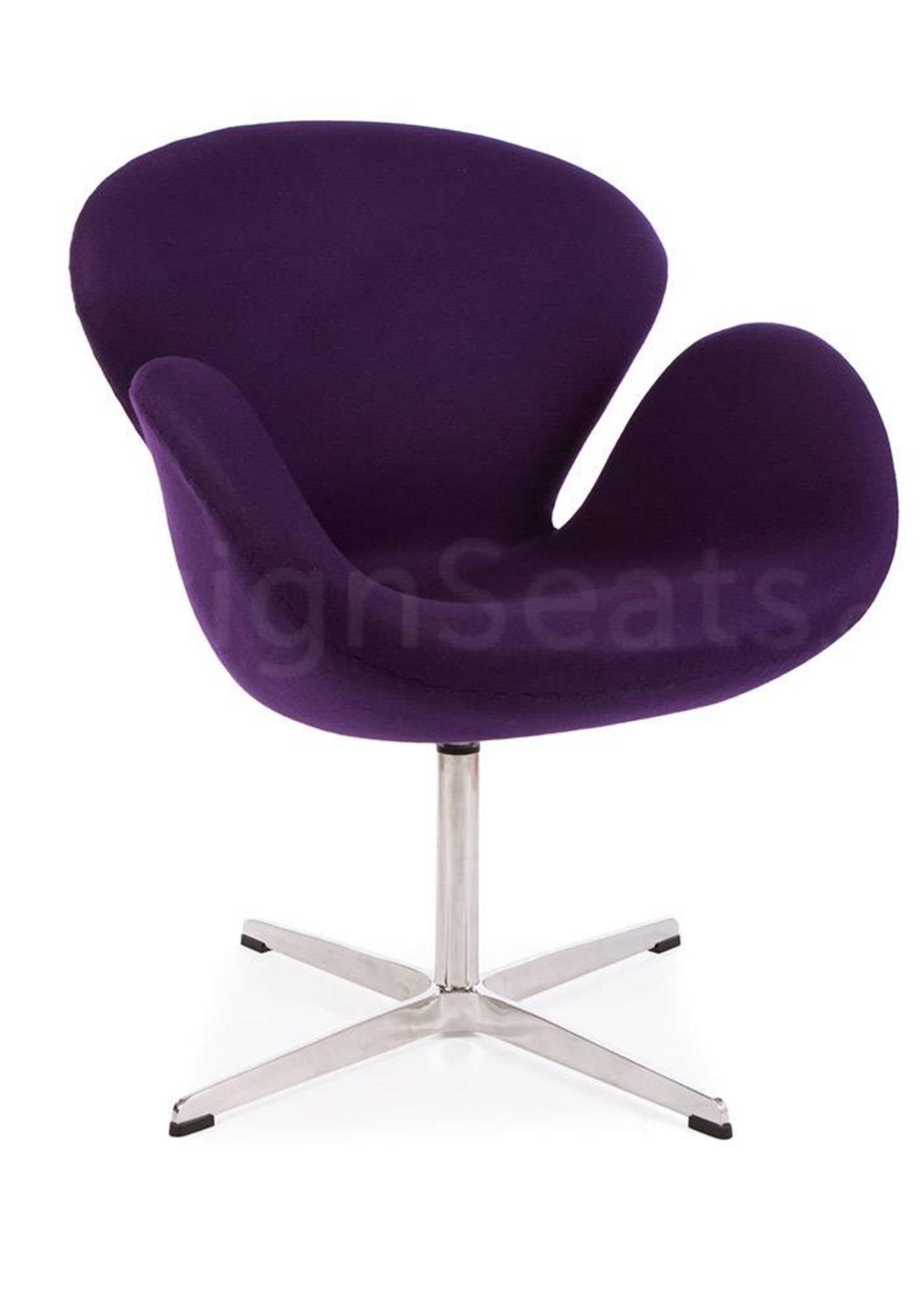 Swan chair Purple Cashmere