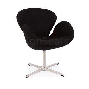 Swan chair Zwart Cashmere