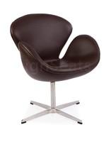 Swan chair Leer Bruin