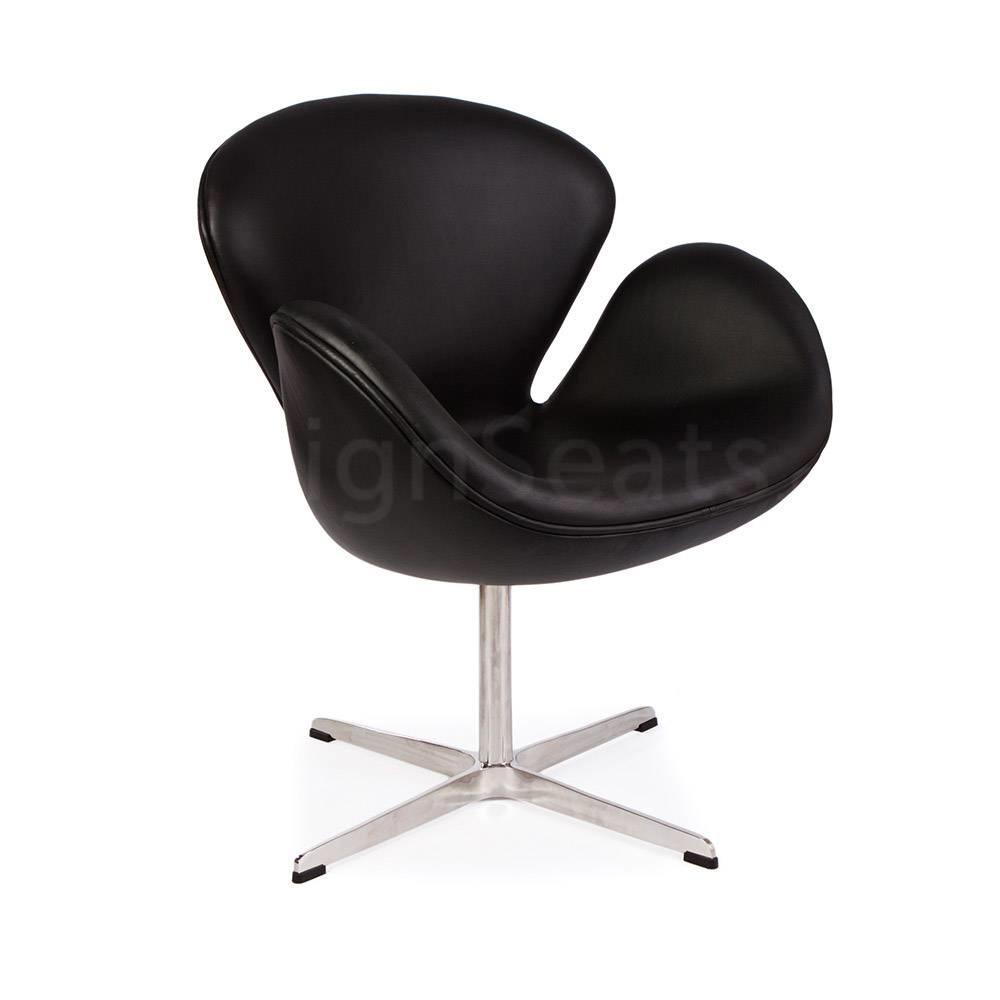 Bureaustoel Wit Leer Metalen Voet.Swan Chair Mrs Beautiful