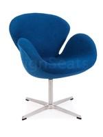 Swan chair Wol Blauw