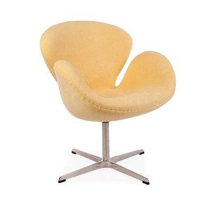 Swan chair Yellow Wool