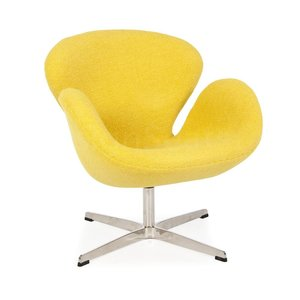 Swan chair Mustard Wool