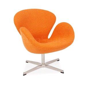 Swan chair Orange Wool