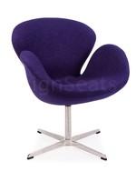 Swan chair Wol Paars