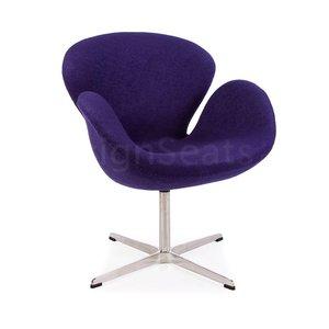Swan chair Purple Wool