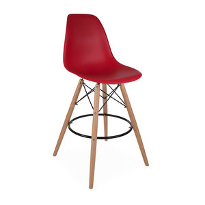 DSW BAR Eames Design Bar Stool Red