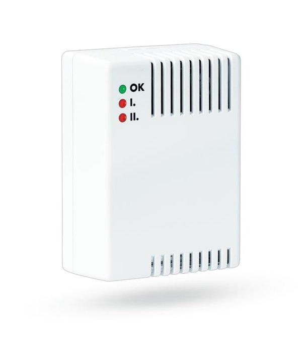 Jablotron Oasis draadloze gaslek detector met interne sirene en 230v aansluiting