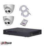 Dahua IP camerasysteem set 4MP met 2 eyeballcamera`s NVR en 1tb HDD