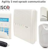 Risco Agility 3 kit draadloos alarmsysteem met spraak module.