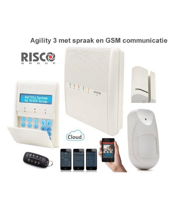 Risco Agility 3 kit draadloos alarmsysteem met GSM module en app