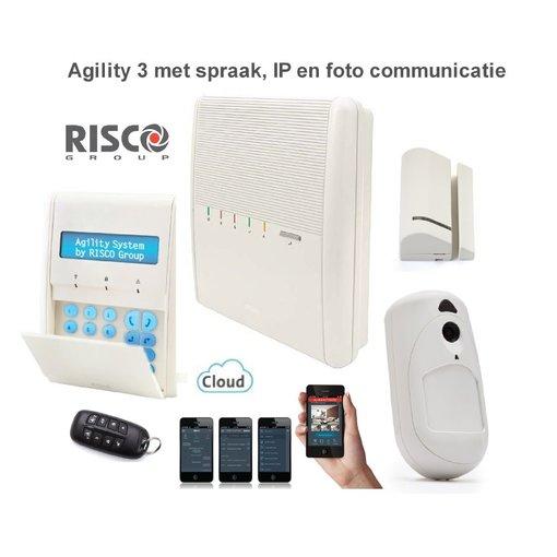Risco Agility 3 alarmsysteem IP en foto PIR