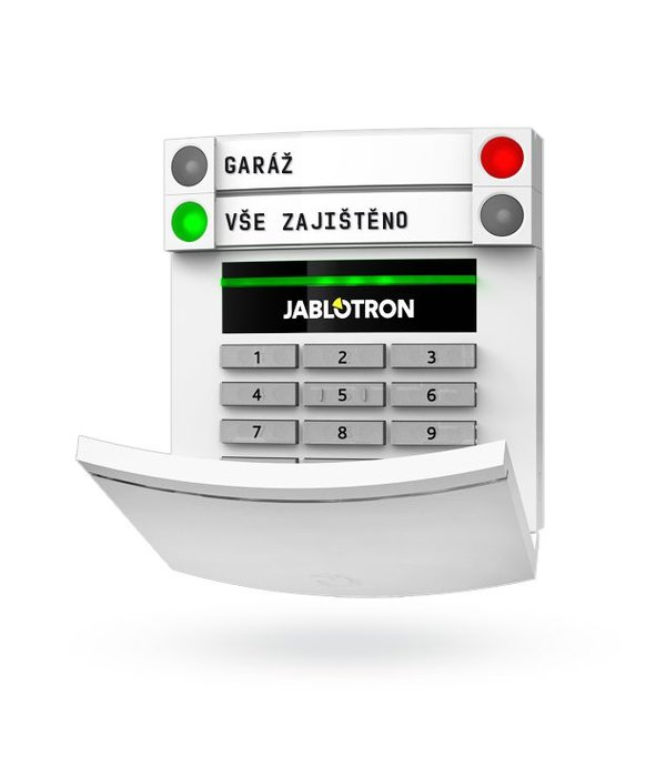 Jablotron 100 BUS bekabeld bedieningspaneel zonder display met cijfertoetsen en RFID