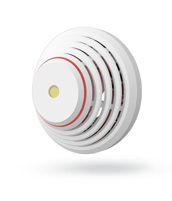 Jablotron Oasis draadloze rook/hitte detector met sirene en led indicatie.