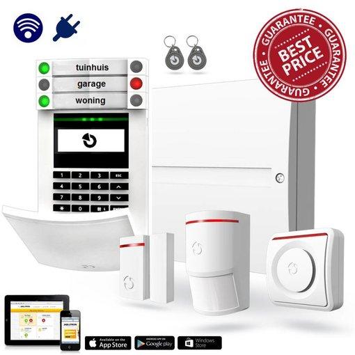 Jablotron 100 Alarmsysteem kit hybride met GSM en LAN inclusief montage.