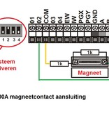 Jablotron Oasis bekabeld opbouw magneetcontact