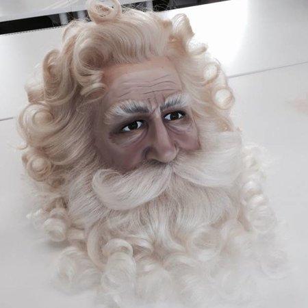 Eigen atelier Kerstman pruik en baard
