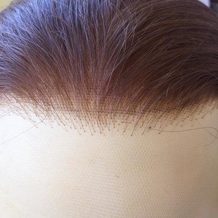 Vakles fijne haarlijnen/randen knopen op filmtule