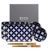 Tokyo Design Studio Tokyo Design Studio 6-teiliges Kotobuki Sushi Geschirr Set – für 2 Personen