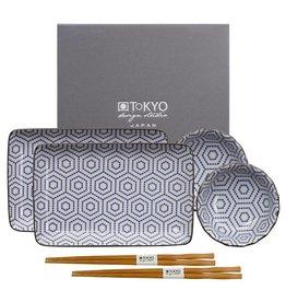 Tokyo Design Studio Coffret Service à Sushi Kotobuki de Tokyo Design Studio – 6-pièces