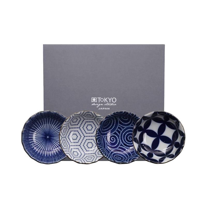 Tokyo Design Studio Tokyo Design Studio Kotobuki Set van 4 Schaaltjes Ø 9,5 cm – in mooie geschenkdoos