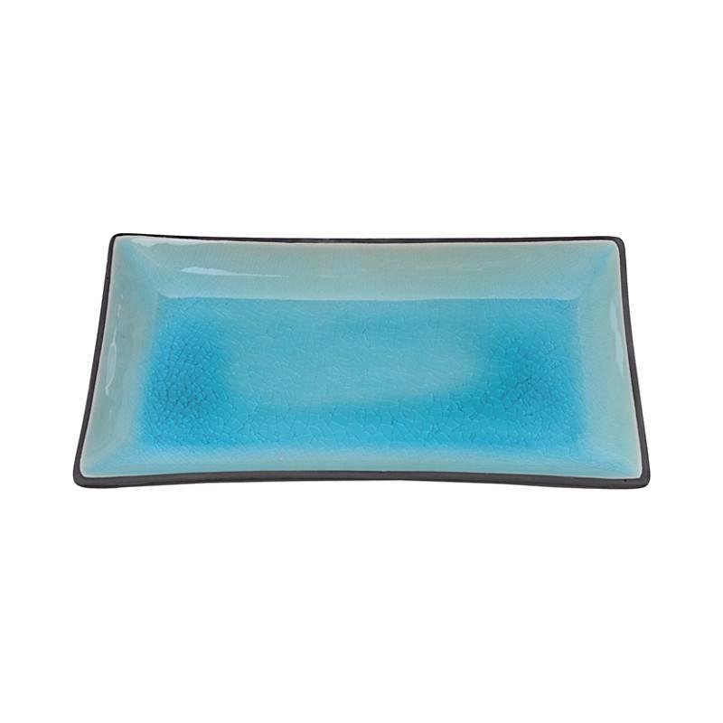 Tokyo Design Studio Tokyo Design Studio Glassy Turquoise 6-teiliges Sushi Geschirr Set – für 2 Personen